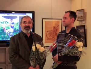 Фотоотчёт с открытия выставки «Тандем» Александра Зотова и Романа Кудакаева